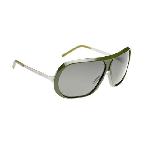 Unisex RAF6A Aviator Sunglasses // Green Aluminium