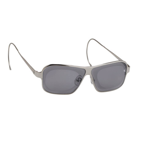 Unisex RAF19C2 Rectangular Aviator Sunglasses // Silver