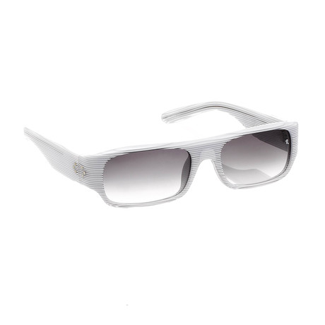Unisex RAF9C4 Sunglasses // White + Clear