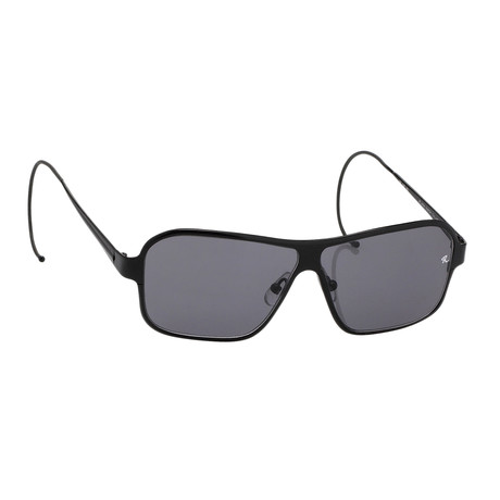 Unisex RAF19C3 Rectangular Aviator Sunglasses // Black