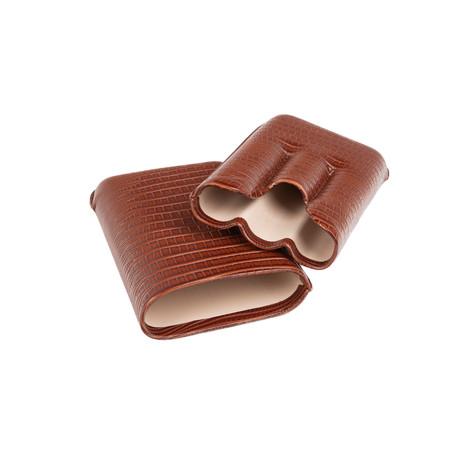 Brown Lizard Triple Cigar Holder // Brown