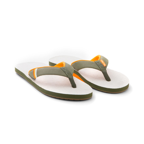 Parks Flip Flops // Army + Natural (US: 8)