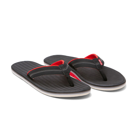 Brazos Flip Flops // Black + Red (US: 8)