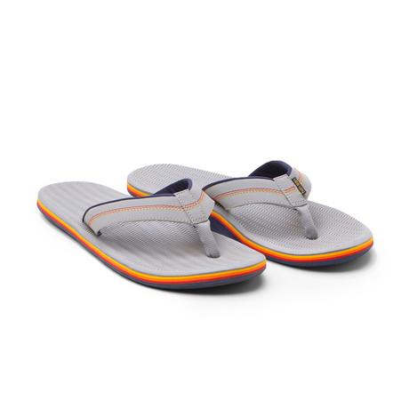 Brazos Flip Flops // Gray + Navy (US: 8)