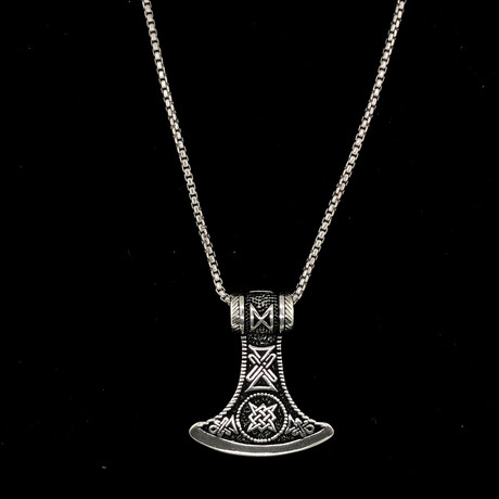 "Solid Sterling Silver Tradition Bell Necklace + 22"" Round Box Chain"