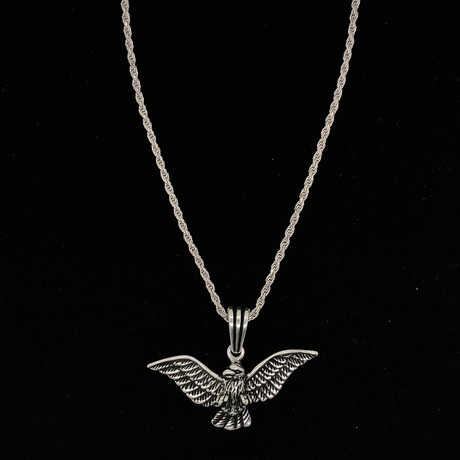"Americas Eagle Necklace + 24"" Rope Chain"