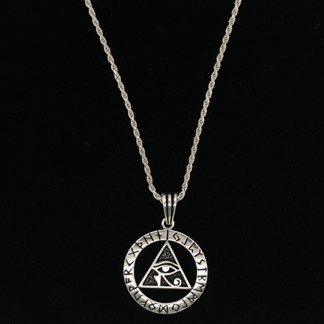 "All Seeing Eye Necklace + 24"" Rope Chain"