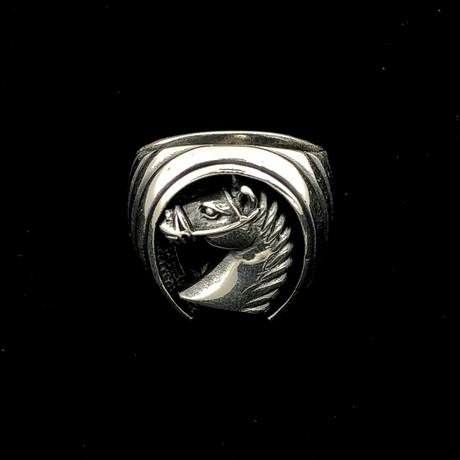 Horse Shoe Men's Ring (Size 8)