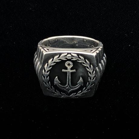 Nautical Anchor Men's Ring (Size 8)