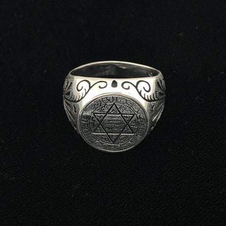 Star Of David Men's Ring (Size 8)