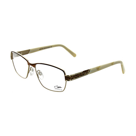 Cazal // Women's Square Optical Frames // Brown + Leopard