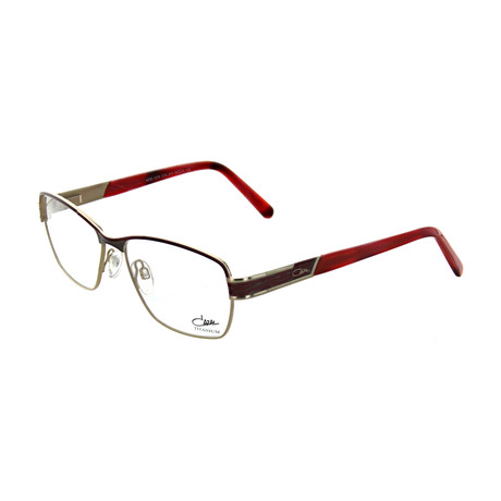 Cazal // Women's Square Optical Frames // Bordeaux