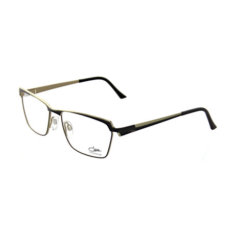 Cazal // Unisex Square Optical Frames // Black + Gold