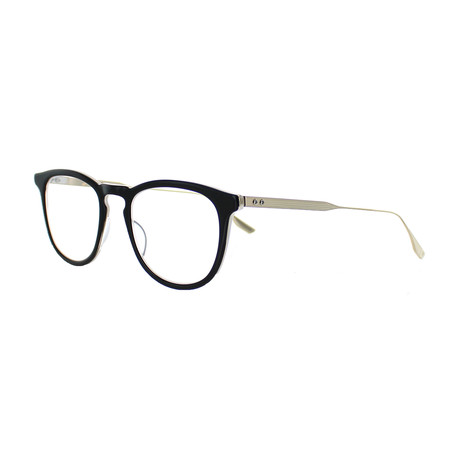 Dita // Unisex Round Optical Frames // Black + White Gold