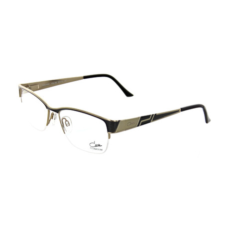 Cazal // Unisex Square Optical Frames // Black + Gold II