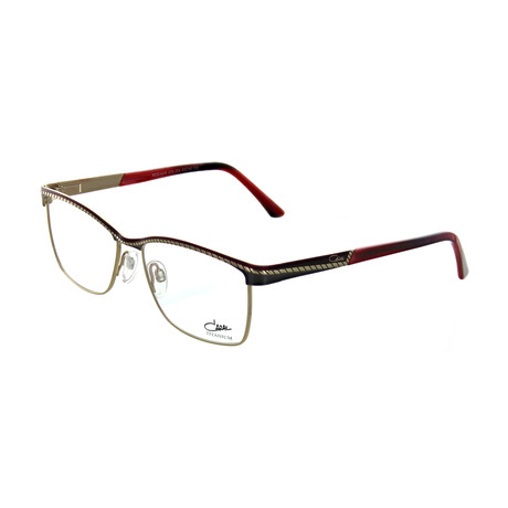 Cazal // Women's Square Optical Frames // Bordeaux II