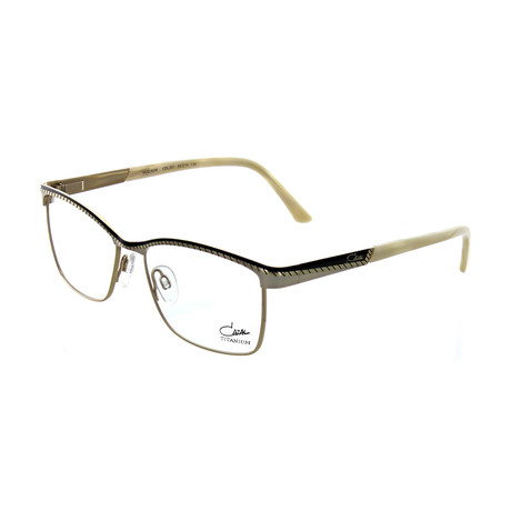 Cazal // Women's Square Optical Frames // Black + Cream