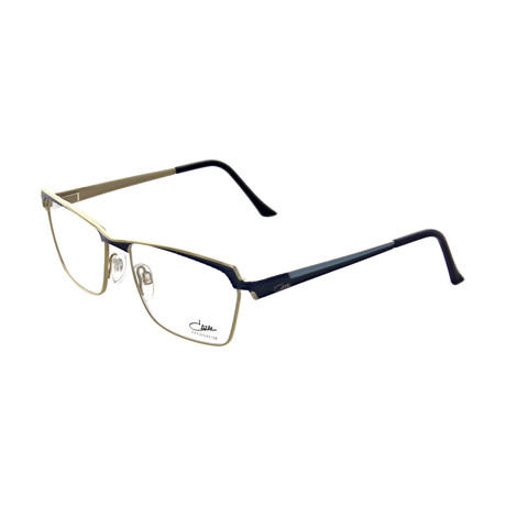 Cazal // Unisex Square Optical Frames // Blue + Gold