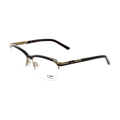 Cazal // Women's Square Optical Frames // Tortoise + Gold