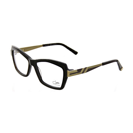 Cazal // Women's Square Optical Frames // Brown + Cheetah + Gold