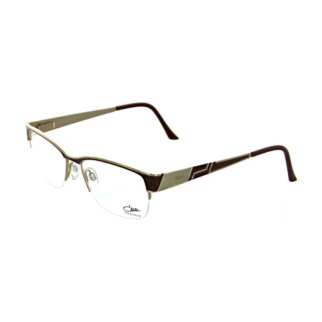 Cazal // Unisex Square Optical Frames // Brown + Cheetah