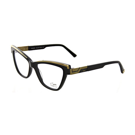 Cazal // Women's Cat Eye Optical Frames // Black + Gold