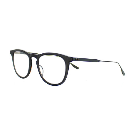 Dita // Unisex Round Optical Frames // Matte Crystal Gray + Black Iron