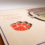 Clemson Tigers Wall Art (25 Layer)