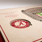 Alabama Crimson Tide Wall Art (25 Layer)