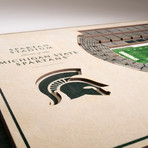 Michigan State Spartans Wall Art (25 Layer)