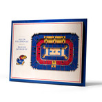 Kansas Jayhawks // 5 Layer Wall Art