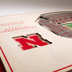 Nebraska Cornhuskers Wall Art (25 Layer)