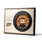 Purdue Boilermakers Basketball Wall Art (25 Layer)