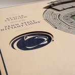 Penn State Nittany Lions Wall Art (25 Layer)
