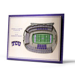 TCU Horned Frogs // 5 Layer // 5 Layer Wall Art