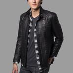 Aiden Leather Jacket // Black (3XL)