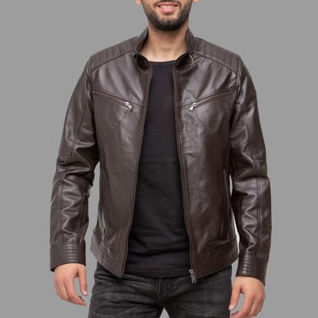 Wyatt Leather Jacket // Brown (Euro: 46)