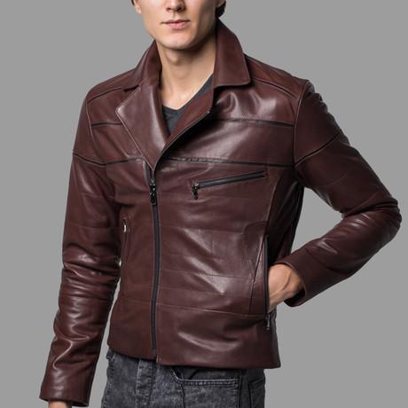 Eli Leather Jacket // Brown (XS)