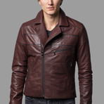 Eli Leather Jacket // Brown (XS)