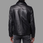 Mason Leather Jacket // Black (XL)