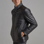 Lucas Leather Jacket // Black (M)