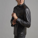 Elijah Leather Jacket // Black (M)
