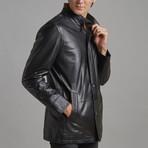 Alexander Leather Jacket // Black (3XL)