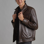 Noah Leather Jacket // Brown (M)