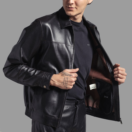 Ezra Leather Jacket // Black (Euro: 46)