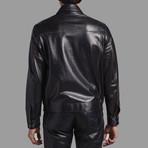 Ezra Leather Jacket // Black (M)
