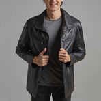 William Leather Jacket // Black (XL)