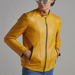 Dylan Leather Jacket // Yellow (M)