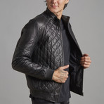 Liam Leather Jacket // Black (5XL)