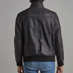 Carson Leather Jacket // Black (XL)